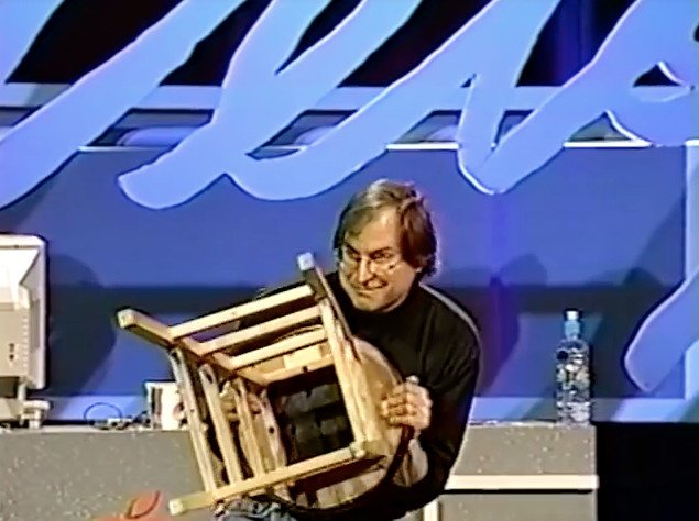Steve Jobs at WWDC, 1997. Here's a full and searchable transcript!